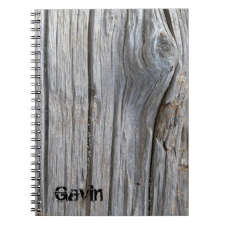 Personalized Driftwood Notebook
