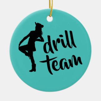 Personalized Drill Team Girl Ceramic Ornament