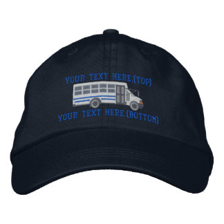 Personalized Driver Mini Bus Shuttle Embroidery Embroidered Hat