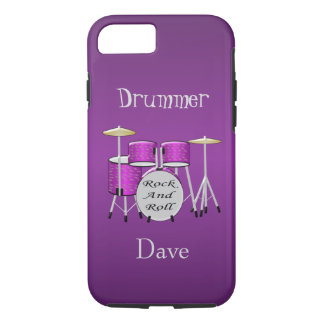 Personalized Drum Kit iPhone 7 Case