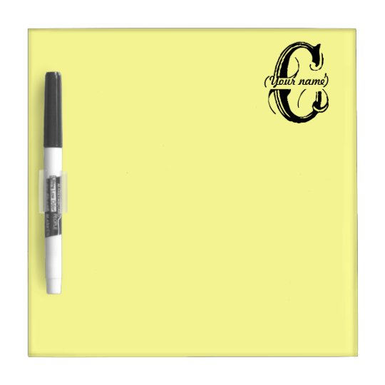 Personalized Dry Erase Board - C