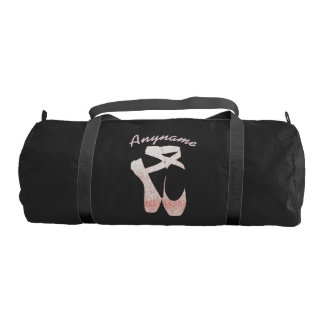 Personalized Duffle Bag Pink Ballet Shoes