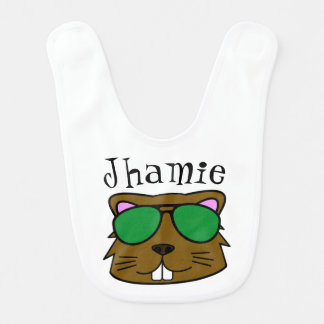 Personalized Eager Beaver Bib