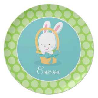 Personalized Easter Bunny Plate Children's Gift