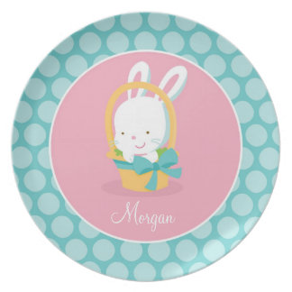 Personalized Easter Bunny Plate Unique Easter Gift