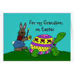 Personalized Easter card with a turtle