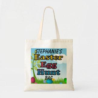 Personalized Easter Egg Hunt Basket Tote Bag