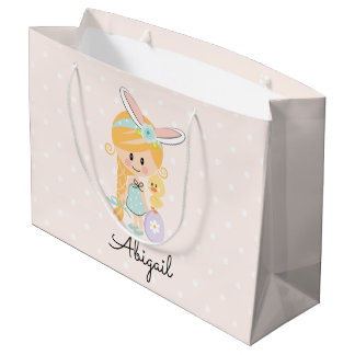 Personalized Easter Gift Bag Bunny Headband Blonde