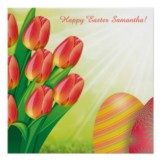 Personalized Easter Poster