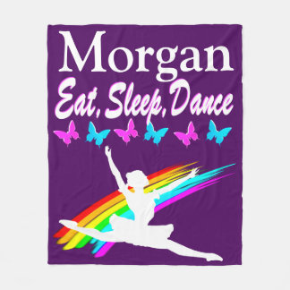 PERSONALIZED EAT, SLEEP, DANCE FLEECE BLANKET