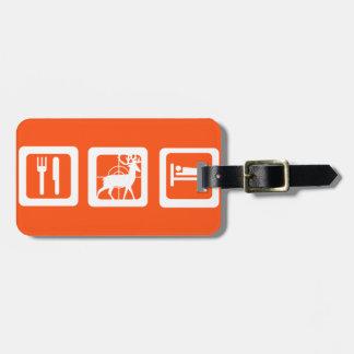 Personalized Eat Sleep Hunt 1st Deer Keepsake Luggage Tag
