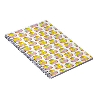 Personalized Eggs Benedict Breakfast Food Print Notebooks