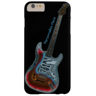 Personalized Electric Guitar Fantasy on Black Barely There iPhone 6 Plus Case