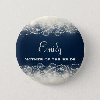 Personalized Elegant Abstract Lace and Pearls 2 Inch Round Button
