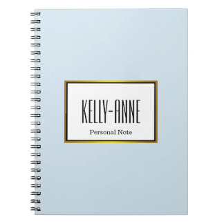 Personalized Elegant Chic Pastel Watercolor Notebook