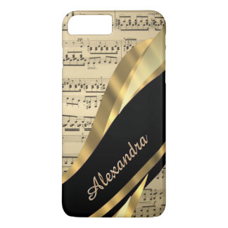 Personalized elegant music sheet iPhone 7 plus case
