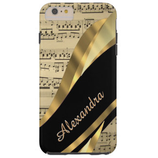 Personalized elegant music sheet tough iPhone 6 plus case