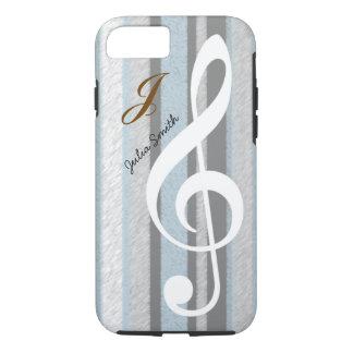 personalized elegant treble clef music iPhone 7 case