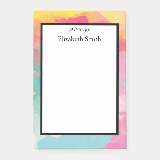 Personalized Elegant Watercolor Post-it Notes