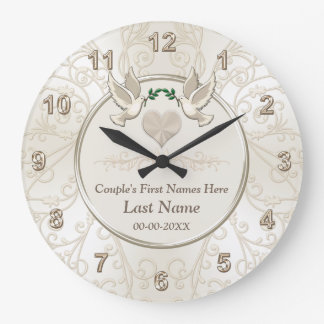 Personalized Elegant Wedding Gifts for Couples Wallclocks