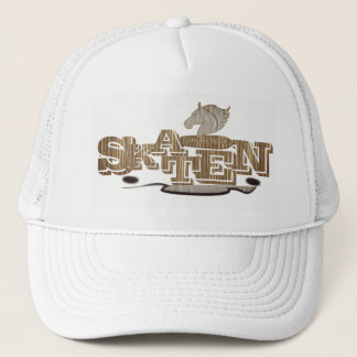 Personalized elegant white skateboard cap