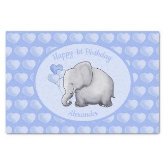 Personalized Elephant Baby 1st Birthday Nursery Tissue Paper