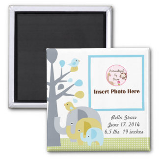 Personalized Elephant Love Photo Frame Magnet