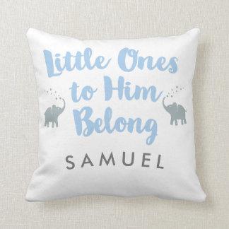 Personalized Elephants Christian Nursery Pillow