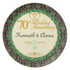 PERSONALIZED Emerald 70th Anniversary Plate
