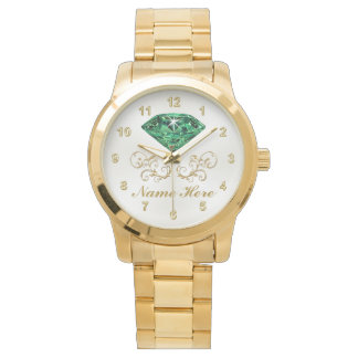 Personalized Emerald Watch for Her