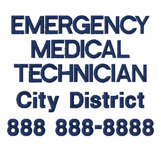 Personalized Emergency Medical Technician EMT Embroidered Hooded Sweatshirts