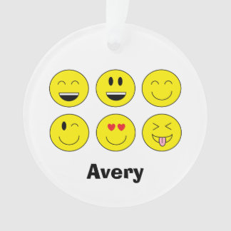 "Personalized ""Emojis"" Christmas Ornament"