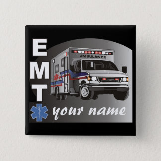 Personalized EMT 2 Inch Square Button