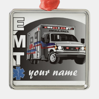 Personalized EMT Metal Ornament