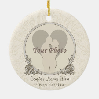 Personalized Engagement Ornaments PHOTO NAMES DATE