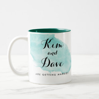 Personalized Engagement Watercolor Mug