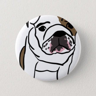 Personalized English Bulldog Puppy 2 Inch Round Button