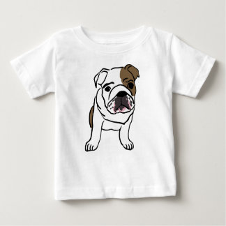 Personalized English Bulldog Puppy Baby T-Shirt