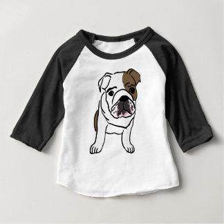 Personalized English Bulldog Puppy Baby T-Shirt