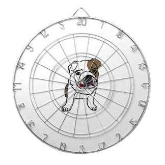 Personalized English Bulldog Puppy Dartboard