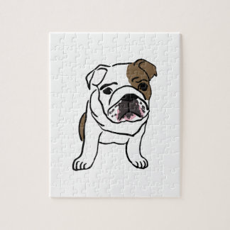 Personalized English Bulldog Puppy Jigsaw Puzzle