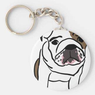 Personalized English Bulldog Puppy Keychain