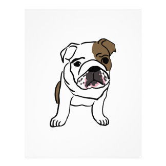 Personalized English Bulldog Puppy Letterhead