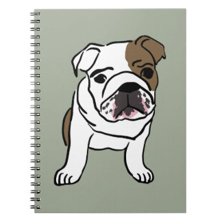 Personalized English Bulldog Puppy Note Books