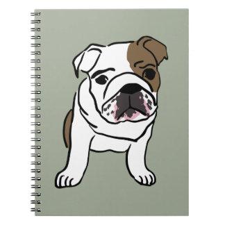 Personalized English Bulldog Puppy Notebooks