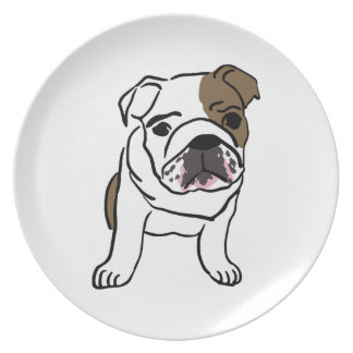 Personalized English Bulldog Puppy Party Plates