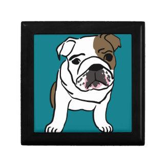 Personalized English Bulldog Puppy Trinket Boxes