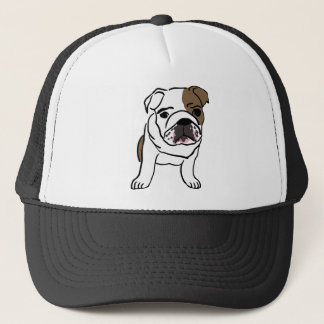 Personalized English Bulldog Puppy Trucker Hat