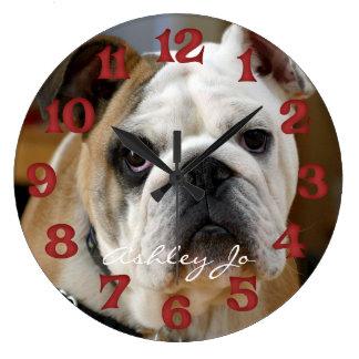 Personalized English Bulldog Wall Clock