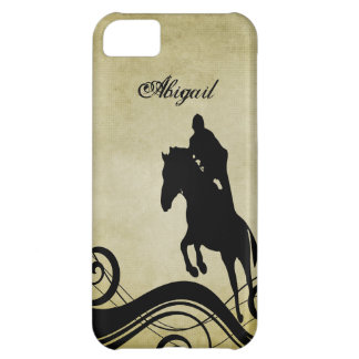 Personalized English Jumping Equestrian Horse iPhone 5C Case